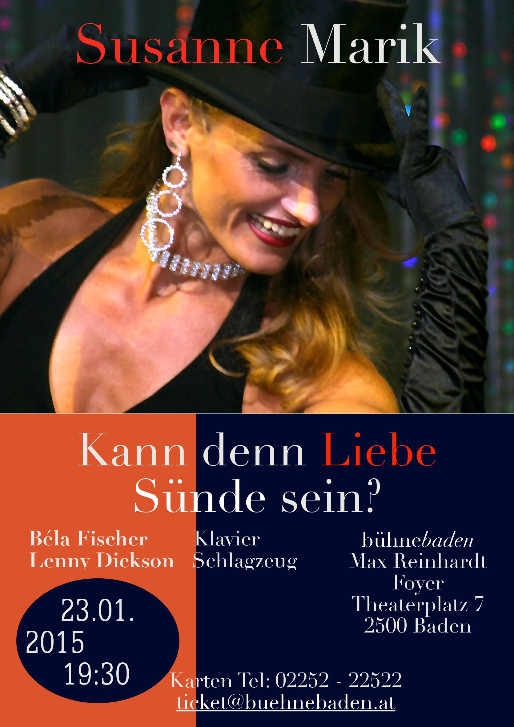 Bühne Baden Plakat