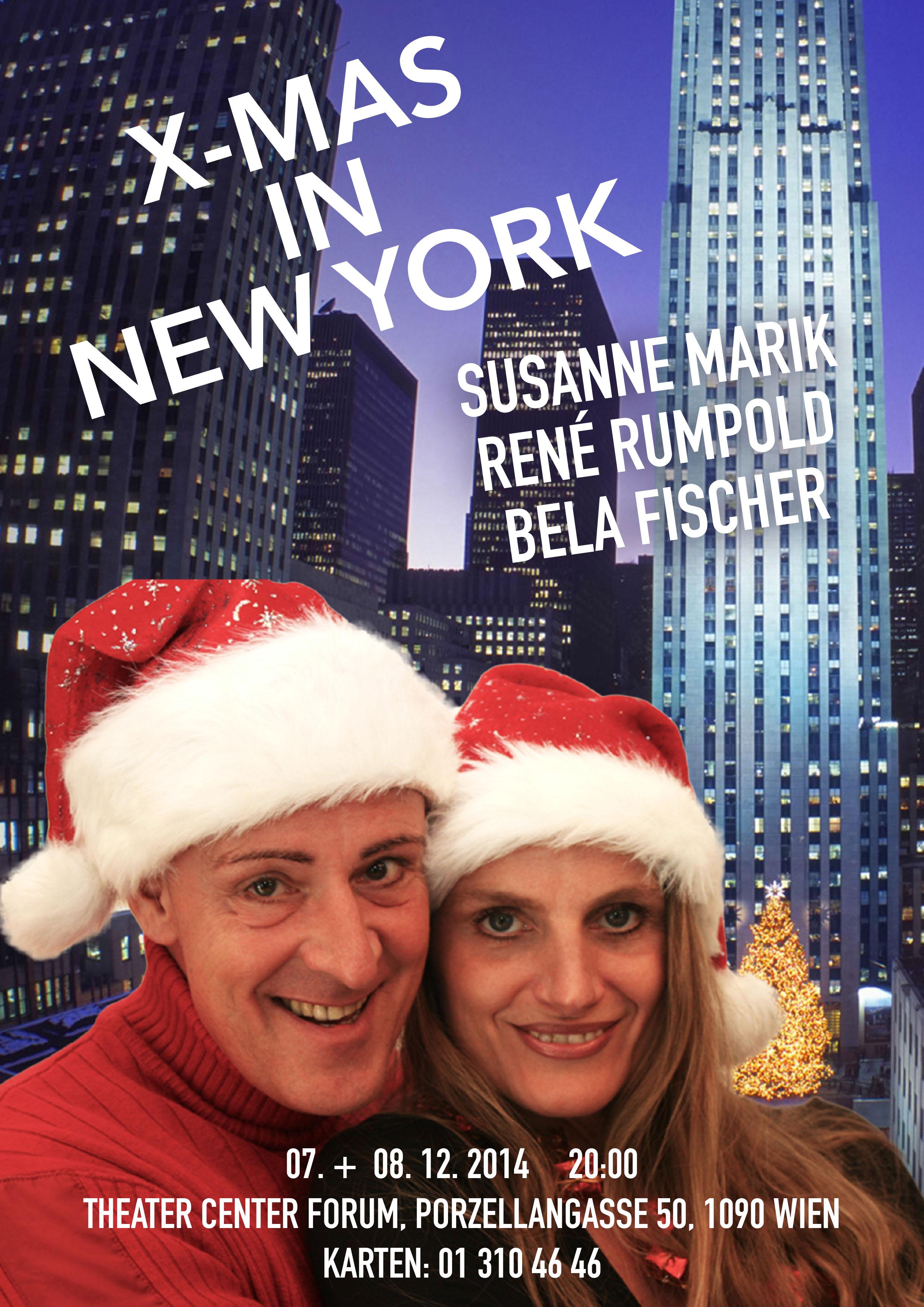 X-Mas im New York Plakat Susi Rene