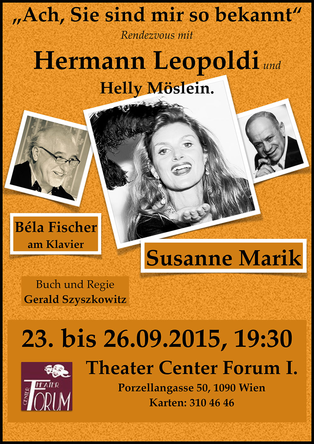 Hermann Leopoldi Plakat A3